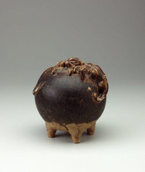 An image of Elephant shaped jar by