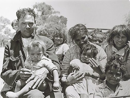 An image of Jack and his family, Pingelly, Western Australia by Axel Poignant