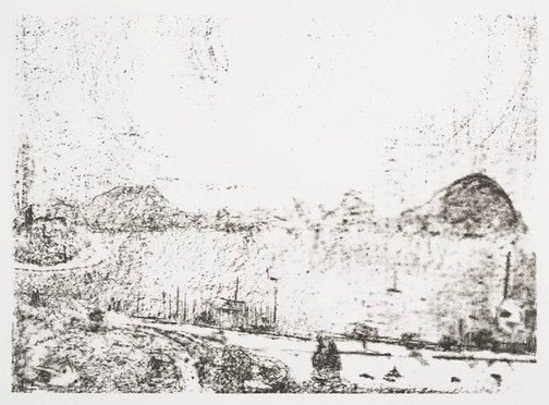 An image of Untitled (The Derwent, Hobart) by Lloyd Rees