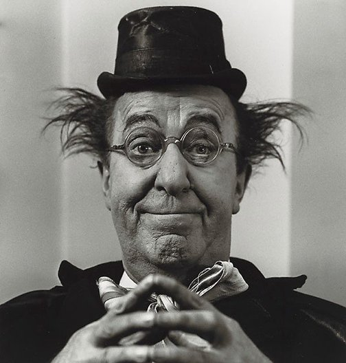 "An image of Ed Wynn, ""The Perfect Fool"" Photographed in character by Sid Avery"