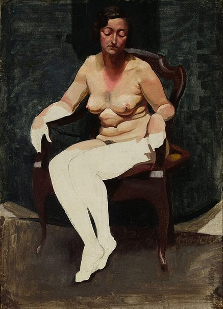 An image of (Untitled - Unfinished female nude) by John Passmore