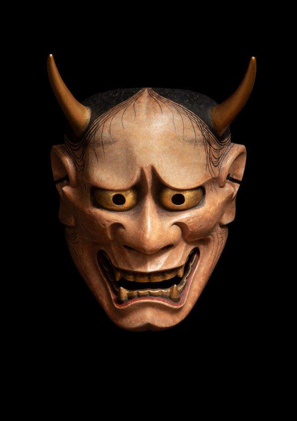 An image of Nō mask of a female demon (hannya)