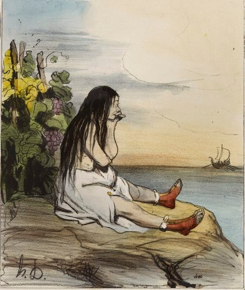 An image of Ariadne forsaken by Honoré Daumier