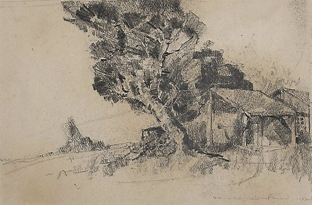 An image of (Study of a landscape)