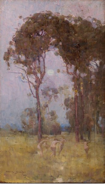 An image of A bush idyll by Arthur Streeton
