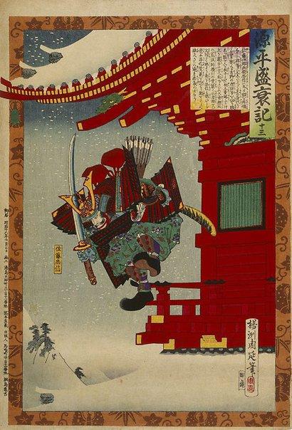 An image of (Loyal retainer Tadanobu) by Toyohara (Yôshû) CHIKANOBU