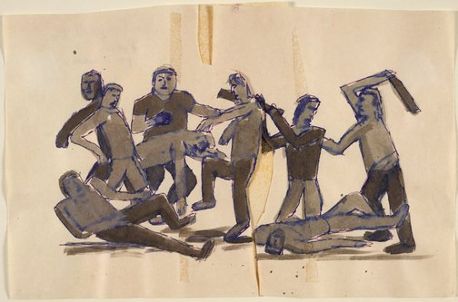 An image of Study for 'The rumble' by Jon Campbell