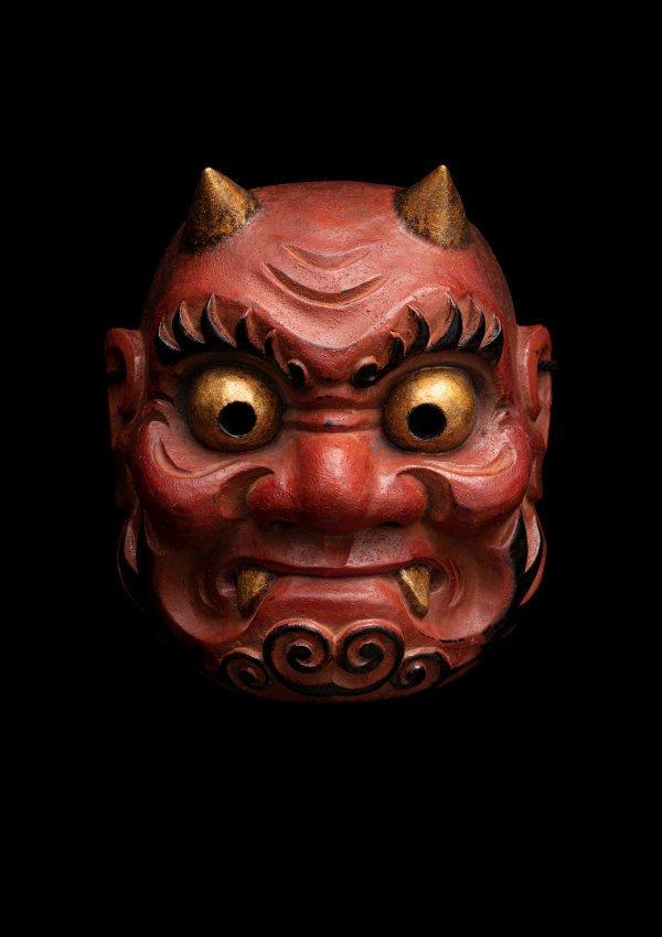 An image of Kagura mask of a demon (oni)