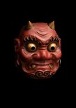 Alternate image of Kagura mask of a demon (oni) by Kitazawa Hideta