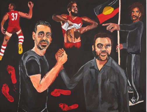 An image of Stand strong for who you are by Vincent Namatjira