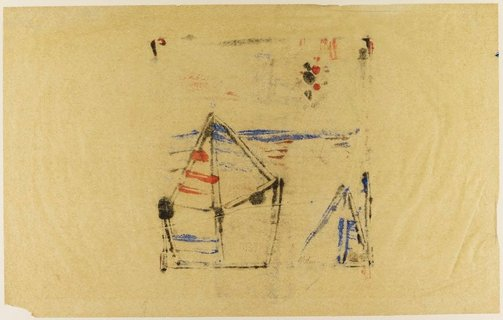 An image of Untitled (tent and stars) by Sidney Nolan