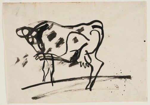 An image of Cow scratching by Francis Lymburner