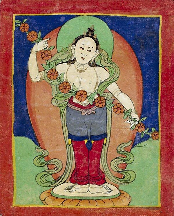 An image of Set of eighteen offering goddesses