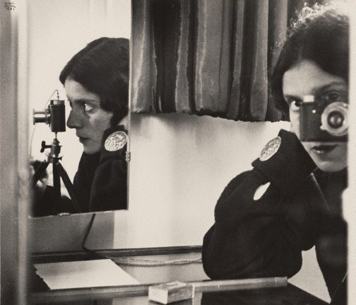 An image of Self portrait with Leica by Ilse Bing