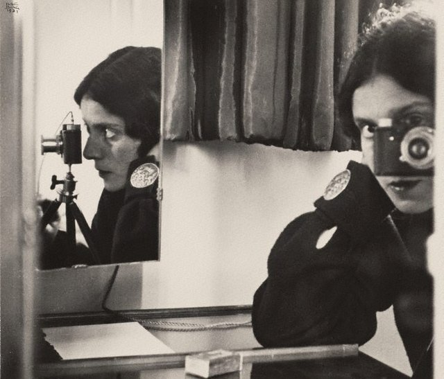 Self portrait with Leica, (1931, printed 1941) by Ilse Bing