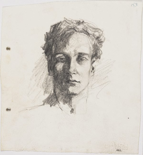 An image of recto: Self portrait verso: Self portrait