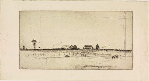 An image of Farm scene, Windsor by Sydney Ure Smith