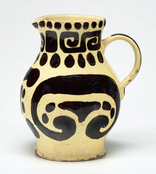 An image of Water jug with geometric designs by Anne Dangar