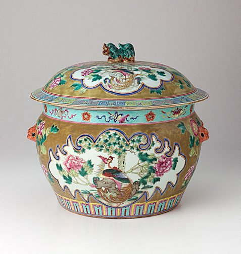 An image of Covered jar 'kamcheng' by Nonya ware