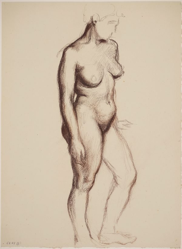 An image of Studies of the nude (Standing female nude, front view)