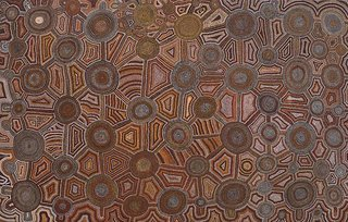 AGNSW collection Uta Uta Tjangala Untitled (Jupiter Well to Tjukula) 1979