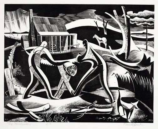 An image of The woodcutters by Kenneth Jack