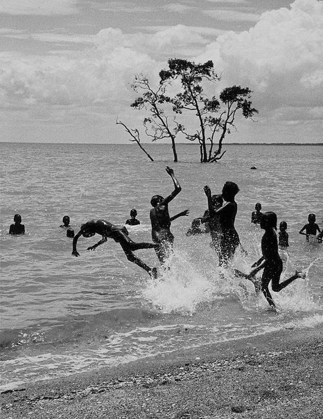 An image of The swimmers, Milingimbi, Arnhem Land by Axel Poignant