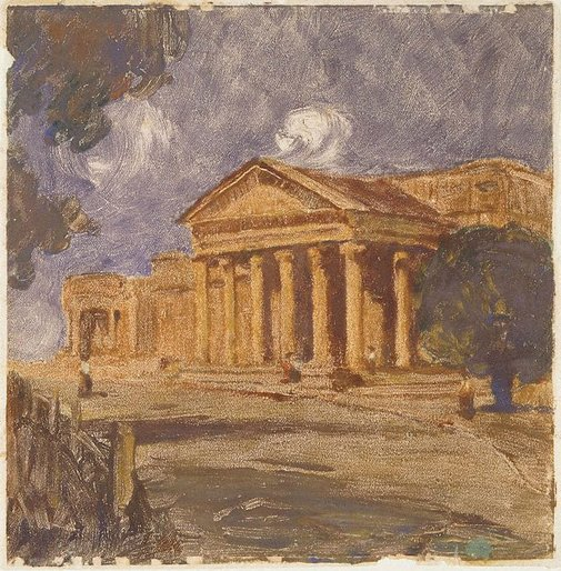 An image of The Art Gallery by J J Hilder