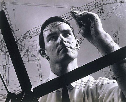 An image of Draughtsman at Marweight Engineering, Burnley, Melbourne by Wolfgang Sievers