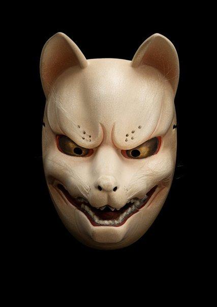 An image of Kagura mask of a fox (tenko) by Kitazawa Hideta