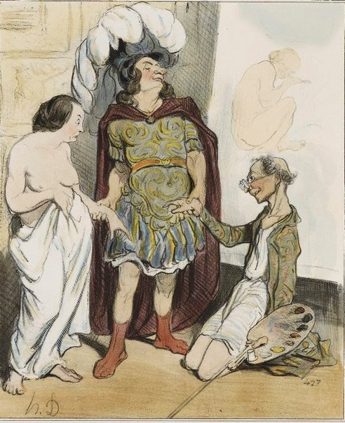 An image of Apelles and Campaste by Honoré Daumier