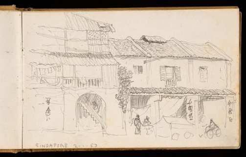 An image of Sketchbook no. 2: Singapore, France, Italy, United Kingdom 1953 by Lloyd Rees