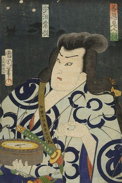 An image of Uji Tsuneetsu by Toyohara Kunichika