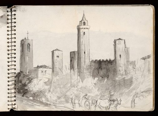 An image of Sketchbook no. 3: Italy, France, 1953 by Lloyd Rees
