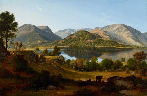 An image of Ullswater, early morning by John Glover