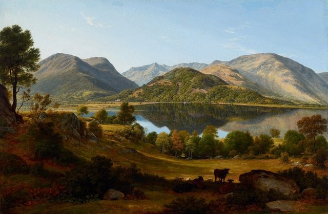 An image of Ullswater, early morning