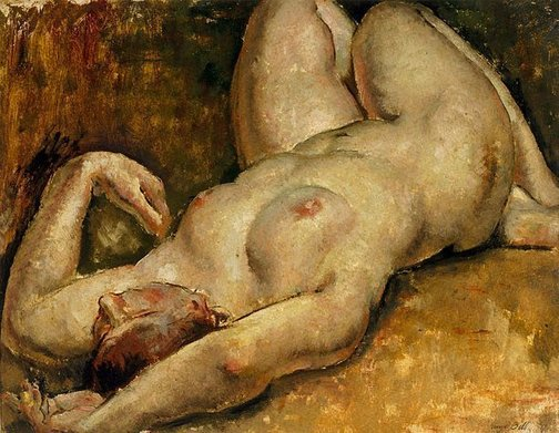 An image of Reclining nude by George Bell