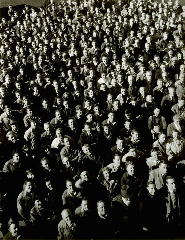 An image of Shift change at Kelly & Lewis Engineering Works, Springvale, Melbourne