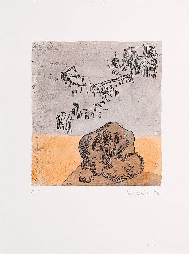 An image of Laurens' 'La Terre' and Paris