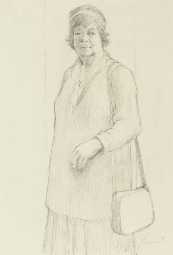 Figure study for Margaret Olley, 1994 by Jeffrey Smart