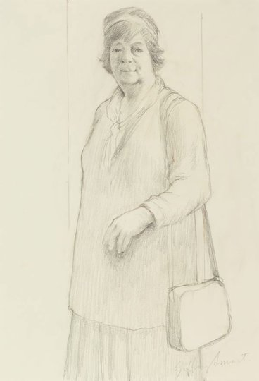 AGNSW collection Jeffrey Smart Figure study for Margaret Olley 1994