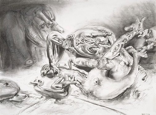 An image of Study for 'Lapsed exemplars' by James Gleeson