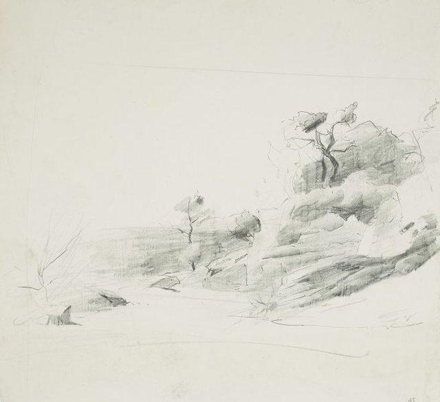 An image of Rocky hillside