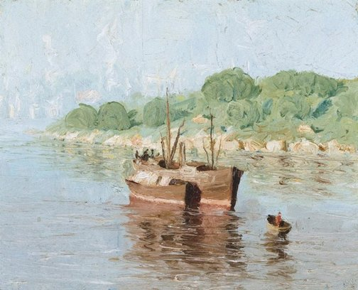 An image of Old boats, Wollstonecraft by Lloyd Rees