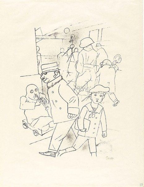 An image of Street corner by George Grosz
