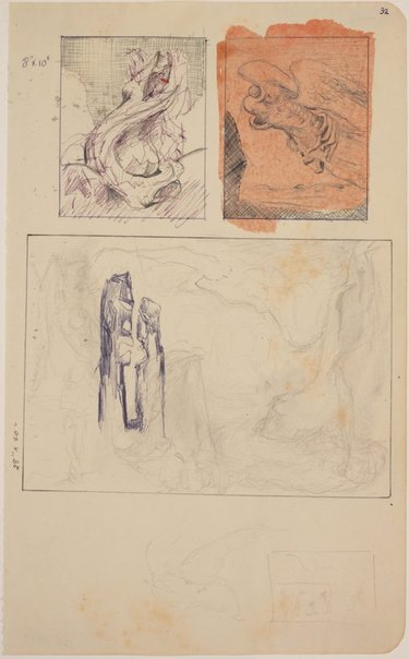 An image of (Three compositional studies) by James Gleeson