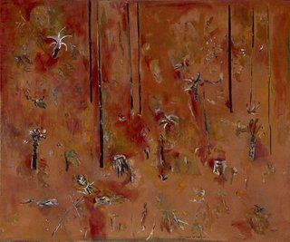 My garden, (1965-1967) by Fred Williams