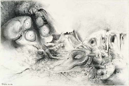An image of Study for 'Garden with excised maze' by James Gleeson