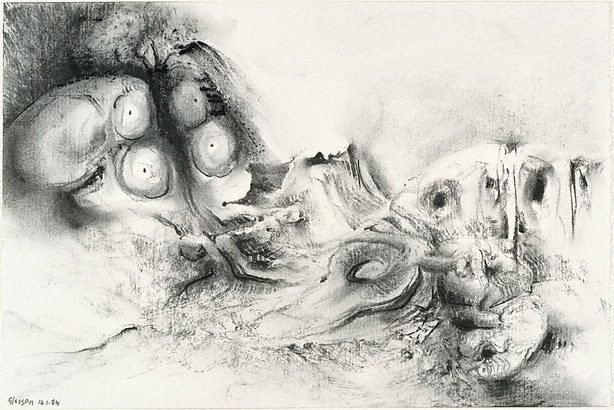 An image of Study for 'Garden with excised maze'