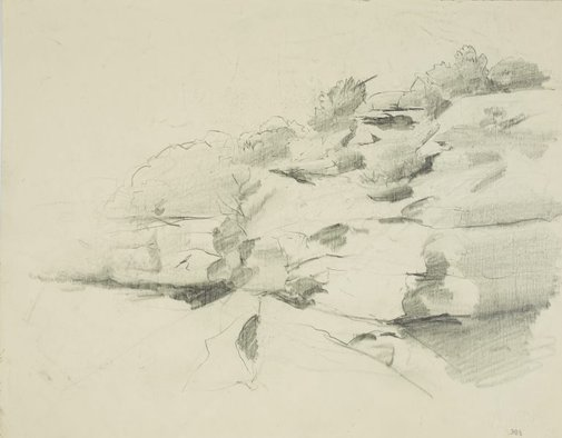 An image of Study for Cliffs at Greenwich by Lloyd Rees